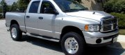 "Dan - White Hall, MD 2005 Dodge 2500 4X4 with Vision 19.5"" X 7.5"" cast aluminum wheels and 245/70R19.5 Michelin XDS2 tires."