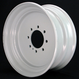 17.5 x 6.75 8 Lug Solid Steel Trailer Wheel 8 x 6.5 Single